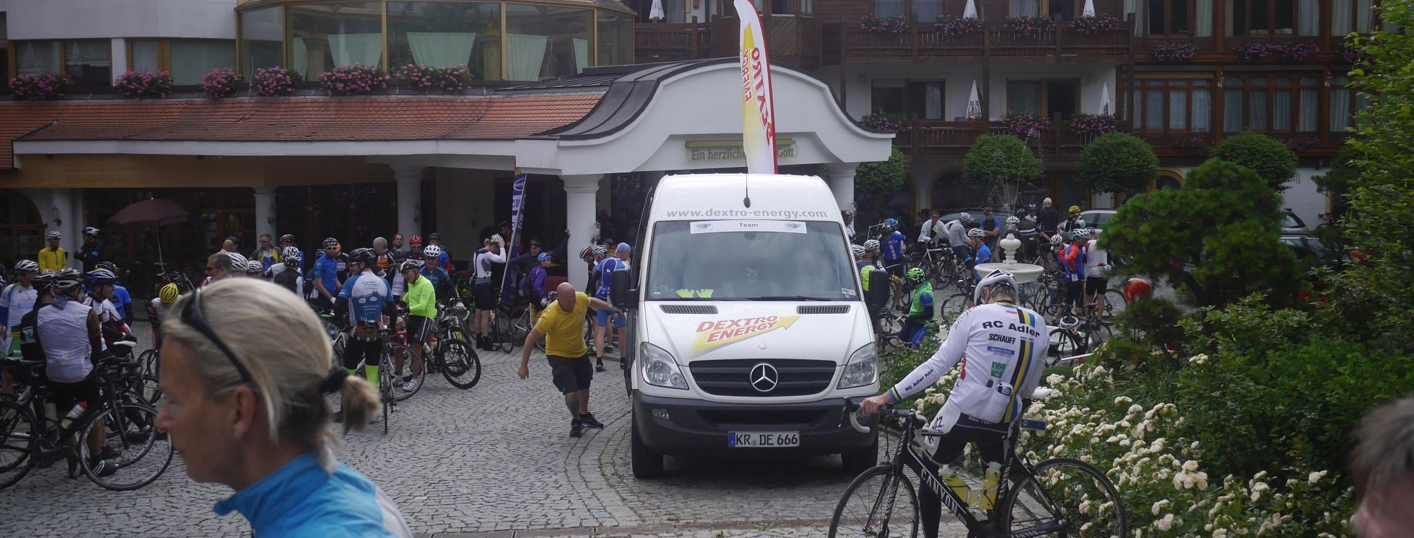 Vor dem Start in Rimbach.