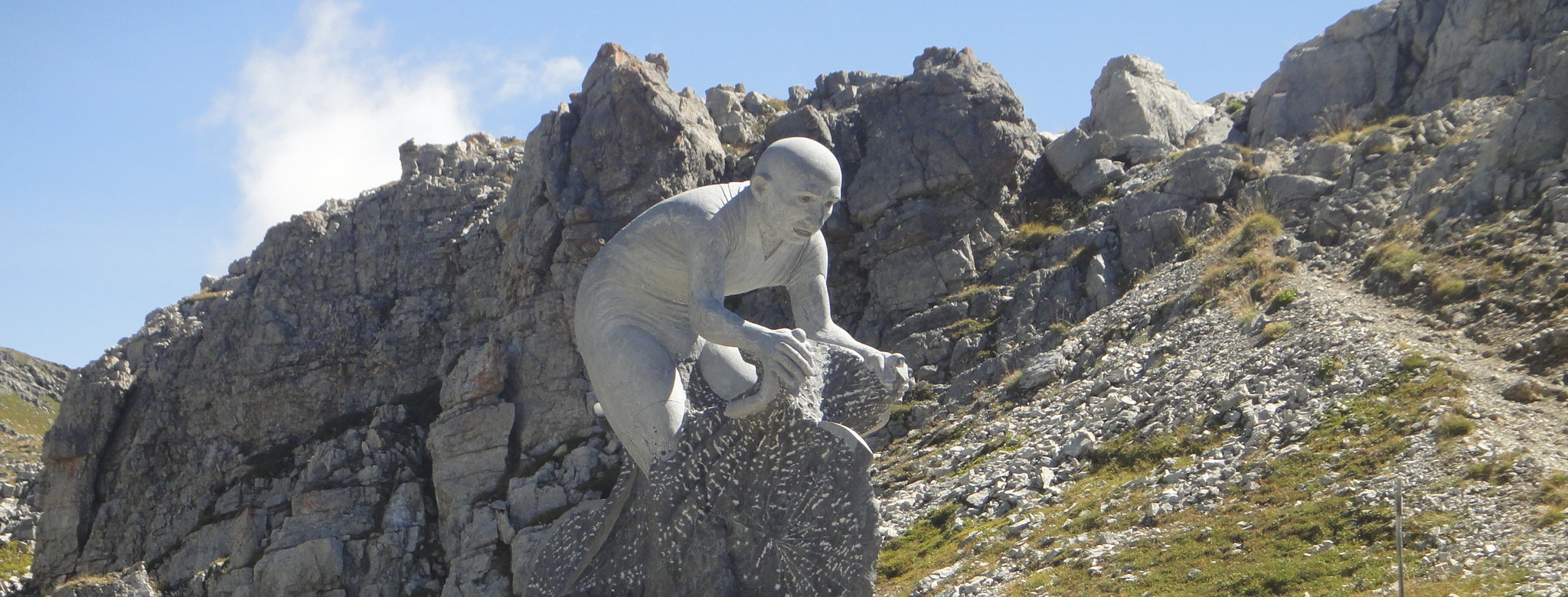 Pantani-Denkmal am Colle dei Morti.