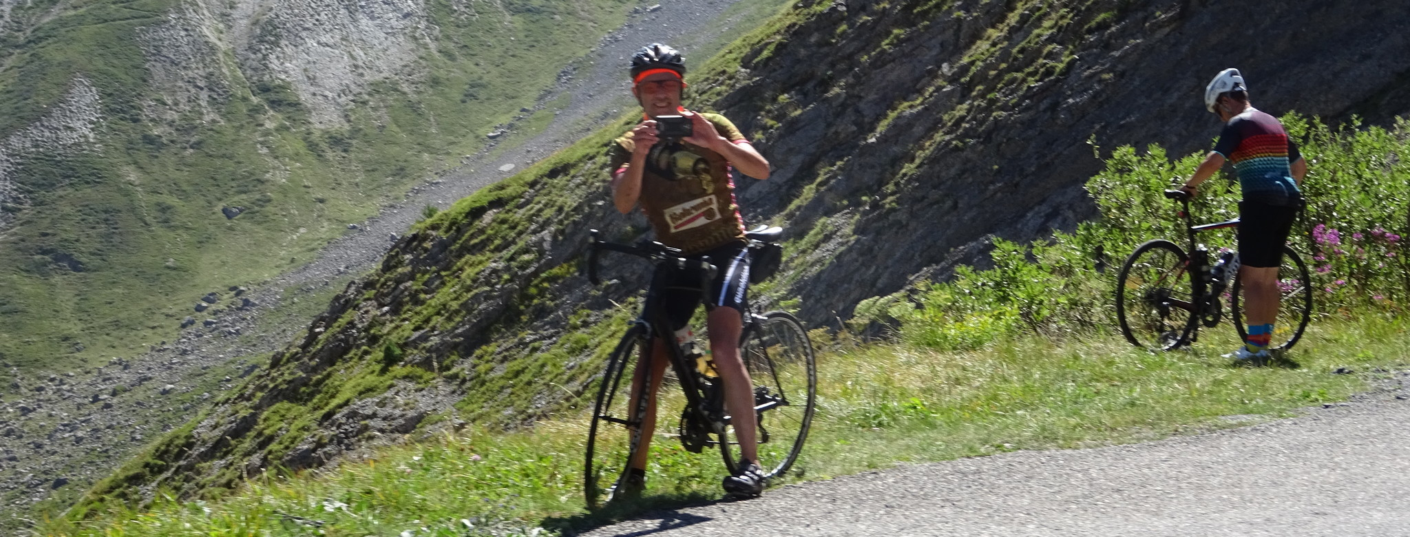 Fotostop am Galibier.