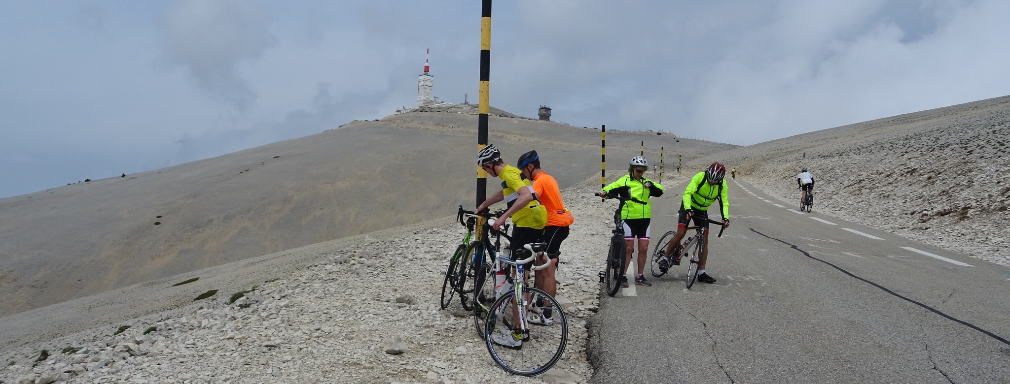 Trubel am Mont Ventoux.